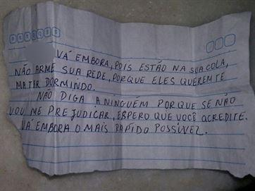 Bilhete estava no bolso do agricultor - Reprodução/Catolé News