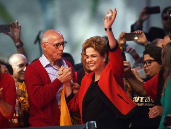Dilma voltou a atacar o processo de impeachment - Foto: G1