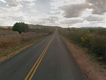 Acidente ocorreu na BR-110, na Zona Rural de Monteiro / Reprodução/Google Street View