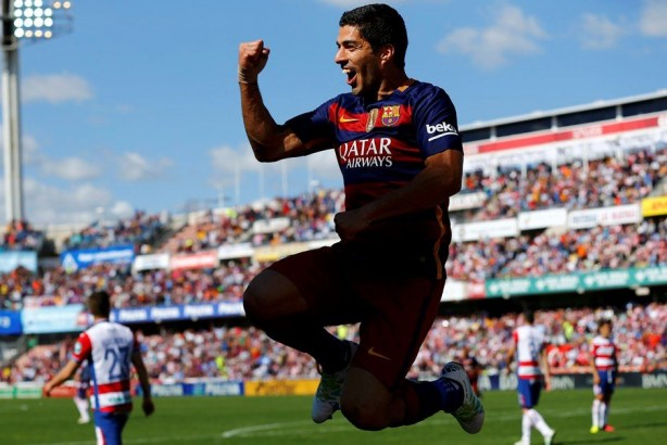 Suárez ainda terminou como artilheiro da competição com 40 gols Foto: Marcelo Del Pozo/Reuters