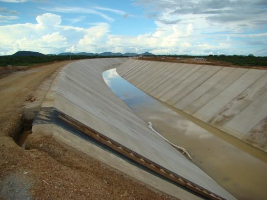 Aspecto da obra da Transposição do Rio São Francisco - Foto: Divulgação