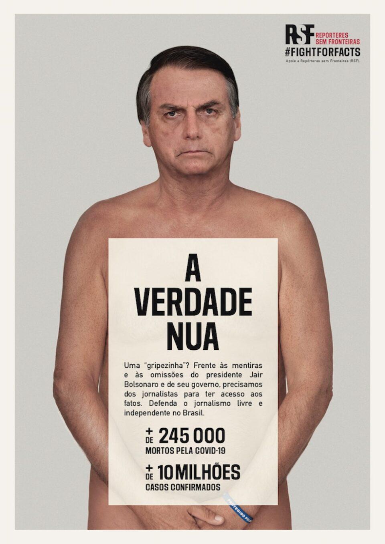 ONG usa Bolsonaro 'nu' para campanha contra desinformação – Blog Jair  Sampaio